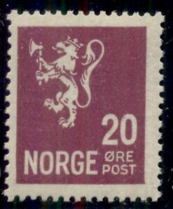 NORWAY #118 (137) 20ore Lion, og, NH, VF, Scott $149.00