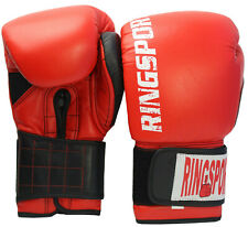 12oz Boxing Gloves Leather Cowhide Muay Thai Training MMA Martial Arts Sparring