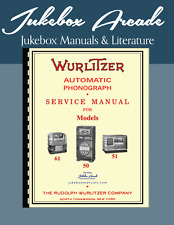 Wurlitzer Models 50, 51, 60 Service Manual, Parts Lists, Trouble Shooing Guide