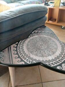 Surfboard Table, Table trefoil,Maori style, Surfing gift, Art Decor New