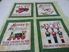 Christmas panels, 4 cute squares, 2 panels, toys, christmas sayings,  F-15