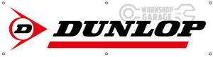 DUNLOP TYRES  BANNER FOR WORKSHOP - CAR CLUB - MAN CAVE