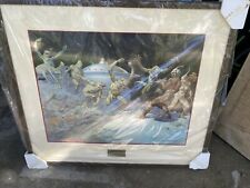 Frank Frazetta Leaping Lizards Signed And Numbered Lithograph Print #70/500