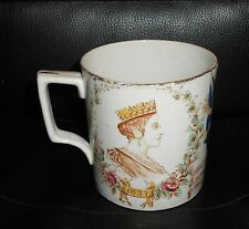 Large Antique Queen Victoria 1897 Jubilee Commemorative Pottery Mug Russel Sons