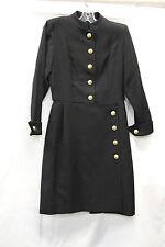 Yves Saint Laurent Encore Wool Dress Size 8 Vintage 1980s Excellent Condition