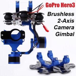 Brushless Gimbal Motor 2Axis GoPro Hero3 Hero3+ Controller Camera Stabilizer DHL