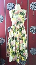 ASOS PREMIUM FLORAL  MIDI DRESS UK 8 USED ONCE IN SHOOT 50'S