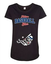 Future Baseball Star Chicago Cubs Baby Sports Team Ball Maternity DT T-Shirt Tee