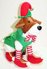 "15"" NEW Disney Store Santa Paws Movie EDDY ELFIN ELF Plush Dog bells boots NWT"