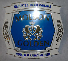 Molson Golden Imported from Canada Molson is Canadian Beer sign plastic Vendor