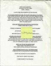 WWF Wrestling Program Lineup Sheet Insert June 6 2000 Buffalo NY Smackdown