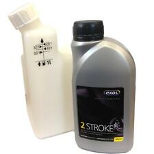 Exol 500ml 2 Stroke oil with 1LTR Fuel mixing bottle- ideal for STIHL RYOBI etc.
