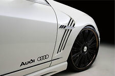 AUDI A3 A4 A5 A6  RS4 S- Line Racing Decal sticker emblem logo BLACK Pair