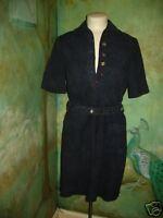 New NWT Tory Burch navy soft suede Raquel shirt dress sz 6