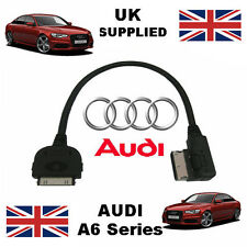 AUDI A6 Series 2013 AMI MMI 4F0051510R iPhone iPod Audio & Video USB Cable red