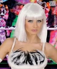 White Lady Gaga Style Fancy Dress Wig Bob Pop Star Glamour Girl