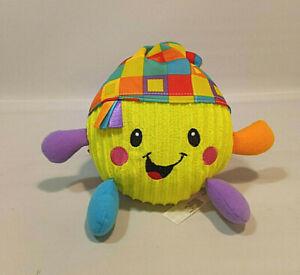 Fisher Price Giggle Gang Kiwi Green Corduroy Plush Laughing Ball Baby Toy