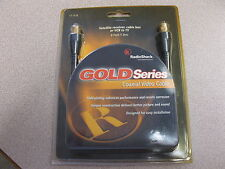 Gold Series Coaxial Video CABLE 6 Feet Satellite Receiver, Cable Box, VCR to TV