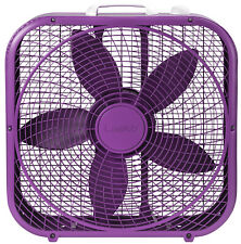 Portable Box Fan 3 Speed 20 inch Floor Desk Room Office Strong Air Cooler Fans