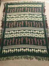 Vintage Golf Throw Blanket Sz 62x46 Approximately In Dimension #E12