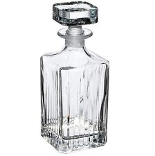 RCR Clear Crystal Glassware Timeless Square Whisky Wine Decanter Bottle 750 ML