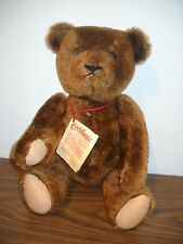 """Athans 20"""" Limited Edition Signed Mohair Teddy Bear West Germany Growler 1980's"""