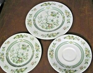 Lot of 3 Pieces Royal Doulton England Tonkin Salad Plates, Bread and Saucer ##