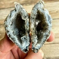 Extra Quality Quartz Occo Geode - Split Cloud Geode - Mineral Crystal Stone Rock