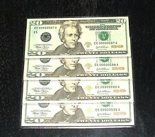2004 Uncirculated $20. Notes - # 587 to 580 - Richmond - 4 In Sequence