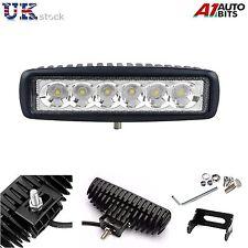 18W 10-30V 6 LED Works Lichter Leiste Punkt Fahr Offroad Auto LKW SUV