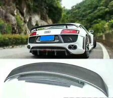 For Audi R8 Carbon Fiber Rear Trunk Wing GT Spoiler Glossy Fibre Accessories