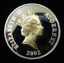 Alderney 2002 Golden Jubilee Sterling Silver £5 Proof Coin in Plastic Capsule