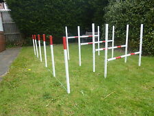 dog agility jump 4 hurdle 6 weave set training obetience exercise fun equipment