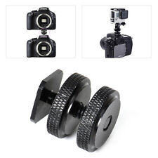 """Pro 1/4""""-20 Tripod Mount screw to Flash Hot Cold Shoe Adapter for DSLR Camera"""