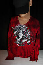 "Bulzeye ""Lost Soul"" - ""Unconditional Love"" Studs & Sequins V-Neck Women's Small"
