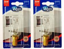 Wpro 40w Oven Bulb / Lamp E14 T29 (Pack Of 2)