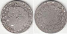 Monnaie Française 2 francs argent Cérès Sans Légende 1870 K
