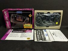Sega Game Gear Black Handheld System Console Boxed Tested Columns Box Complete