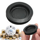 2/5/10pcs Plastic Money Saving Box Piggy Bank Closure Plug Stopper Cover Black
