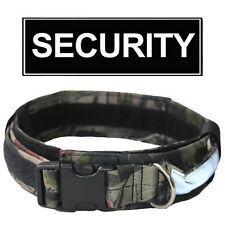 2 Inch Tactical Police Safety Heavy Duty Strong Clip Nylon Wide Pet Dog Collar
