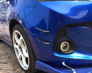 Car Carbon Fiber Front Bumper Lip Splitter Fins Body Spoiler Canards Refit Trim#