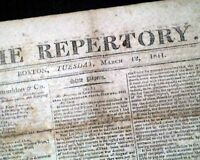 CHURCH & STATE Mississippi Territory President James Madison 1811 Old Newspaper