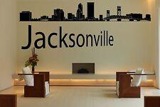 Wall Vinyl Sticker Decal Skyline Horizon Panorama City Jacksonville USA F1734