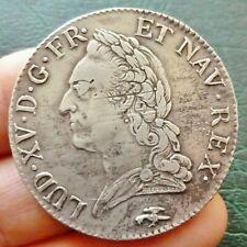 Louis XV - Ecu à la vieille Tête - 1772 D  Lyon