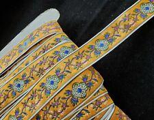 Vintage Jacquard Trim - Flower Embroidered Design (Jacquard) -  25 mm Trim by Yd
