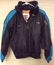 Vintage Descente Ladies Pullover Lightweight Ski Jacket Size 8 Black & Teal