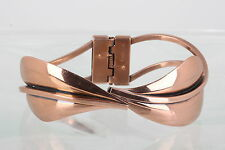 COPPER RENOIR HINGED CUFF BRACELET COSTUME SIGNED 9600