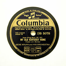"GENE KRUPA & HIS ORCHESTRA ""My Old Kentucky Home"" COLUMBIA DB-5078 [78 RPM]"