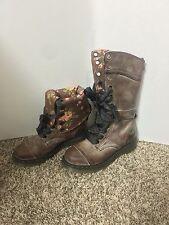 Dr Martens Women's Size 7 Triumph Leather Floral 1914 Doc Boots