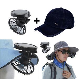 Clip on Hut Mini Solar Energy Fan mit Kappe für Camping Angeln